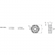 Inserti bilaterali HNKU MM KERFOLG FACE Utensili a fissaggio meccanico 246290 0