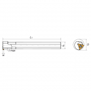 Portainserti di scanalatura interna per inserti triangolari R/L KERFOLG TURN