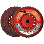 Dischi lamellari con supporto in plastica e tela abrasiva in zirconio e corindone WRK RED DRAGON PLASTICA Abrasivi 8 0