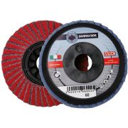 Dischi lamellari con supporto in plastica e tela abrasiva in zirconio e ceramico WRK BARRACUDA PLASTICA Abrasivi 30174 0