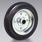 Ruote in gomma nera disco in lamiera TELLURE RÔTA Macchine, attrezzi e componentistica 6349 0