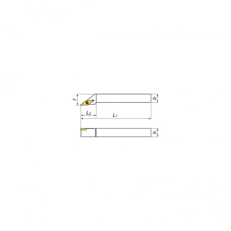 Toolholers for external threading for positive inserts KERFOLG TURN form V - SVJCR/L