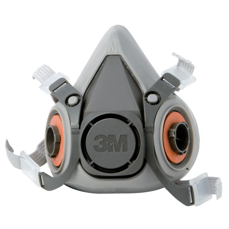 Semi-masks with two filters for gas and vapors 3M