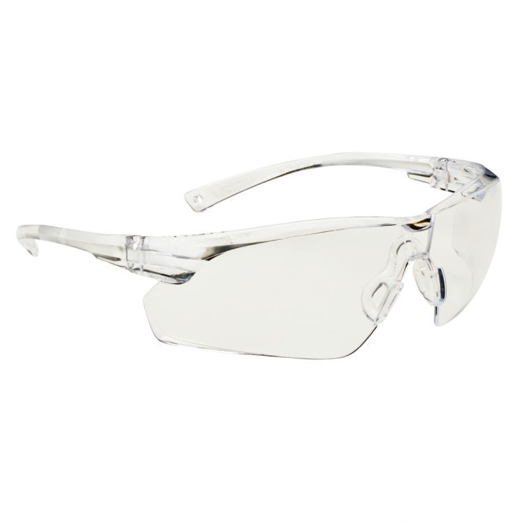 Protective eyewear transparent frame anti-scratch