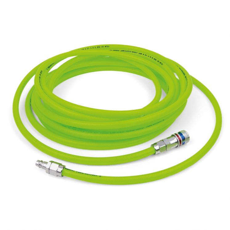 Linear safety hoses hi-visibility with fast connections series 320 DN7.6 CEJN 19-958-924