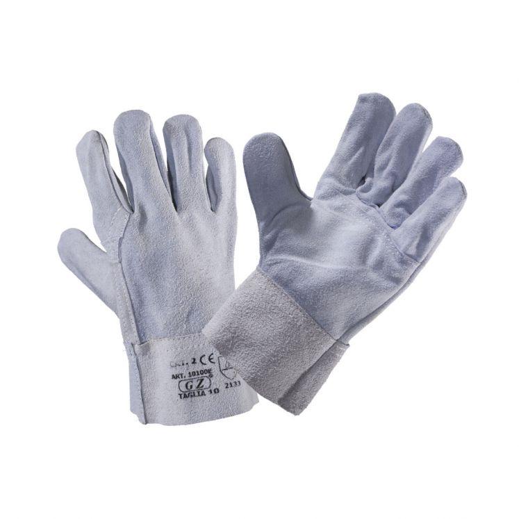 Work gloves in rump split reinforced