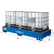 Steel spill pallets for IBCS LTEC Furnishings and storage 30291 0