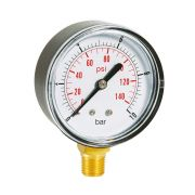 Dry pressure manometers in ABS case bottom connection Pneumatics 244008 0