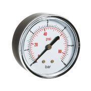 Dry pressure manometers in ABS case rear connection Pneumatics 244009 0