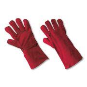Work gloves in rump split for welders
