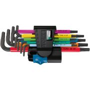 Set of long L keys multicolour with holding function for Torx WERA 967 SL/9 HF Hand tools 346960 0