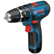 Cordless screwdriver drills with battery percussion 12V BOSCH GSB 12V-15 PROFESSIONAL Workshop equipment 349950 0