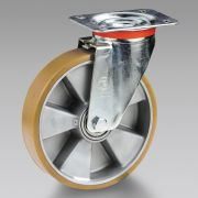 Polyurethane wheels with aluminium centre with support TELLURE RÔTA Workshop equipment 6106 0