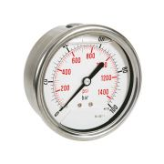 Pressure manometers in steel case with glycerine, rear connection Pneumatics 244011 0