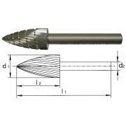Rotary burrs in HSS PFERD K Abrasives 64 0