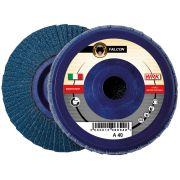 Flap grinding discs with nylon backing in zirconium abrasive cloth WRK FALCON PLASTICA Abrasives 244833 0
