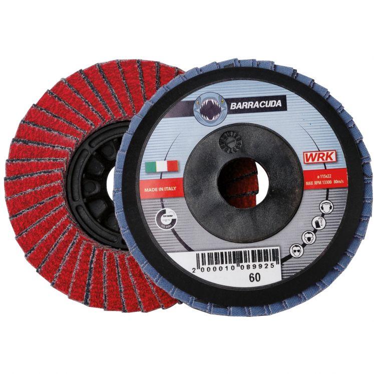 Discos laminares con soporte de plástico y tela abrasiva de circonio y cerámico WRK BARRACUDA PLASTICA