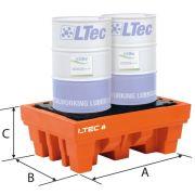 Cubetas de polietileno para bidones LTEC Mobiliario y colectores para taller 38984 0