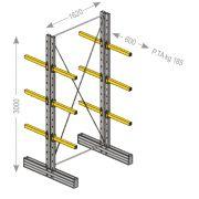 Estantería cantiléver andquot;Sandquot; serie ligera bifrontal Mobiliario y colectores para taller 21313 0