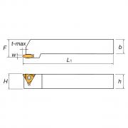 Portaherramientas para muescas exteriores para plaquitas triangulares CGER/L KERFOLG TURN