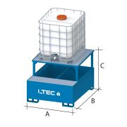 Cubetas de acero con soporte inclinado para cisternas LTEC Mobiliario y colectores para taller 38985 0
