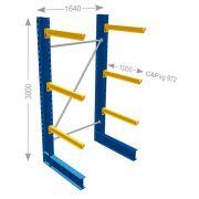 Estantería cantiléver andquot;Pandquot; de IPE serie pesada monofrontal Mobiliario y colectores para taller 21093 0