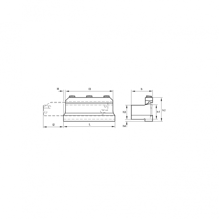 Tool block for parting blades KERFOLG