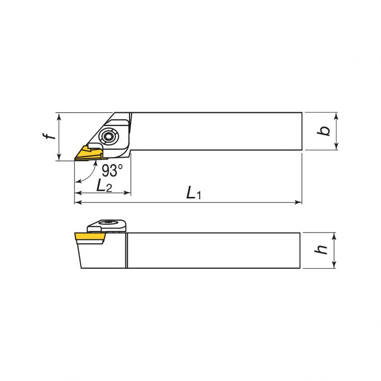 Toolholers for external threading for positive inserts KERFOLG TURN form K - CKJNR/L