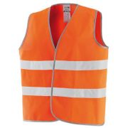 High visibility orange vest in polyester Safety equipment 34744 0