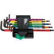 Set of long L keys for Torx screws with tamper screw WERA 967 SPKL/9 BO Hand tools 346961 0
