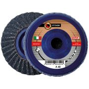 Flap grinding discs with plastic backing in zirconium abrasive cloth WRK PYTHON PLASTICA Abrasives 10 0