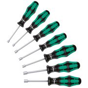 Set of hexagonal nutdrivers with handle WERA 395 HO/7 SM Hand tools 346958 0
