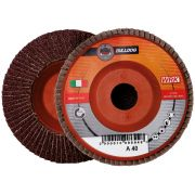 Flap grinding discs with plastic backing in aluminium oxide abrasive cloth WRK BULLDOG PLASTICA Abrasives 30172 0