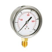 Pressure manometers in steel case with glycerine, bottom connection Pneumatics 244010 0