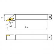 Toolholers for external threading for positive inserts KERFOLG TURN form V - SVJBR/L