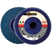Flap grinding discs with nylon backing in zirconium abrasive cloth WRK FALCON PLASTICA Abrasives 244833 0