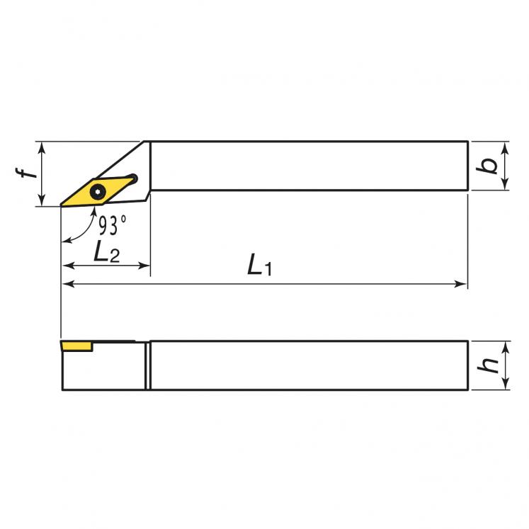 Systemy mocowania do toczenia zewnętrznego, płytki dodatnie KERFOLG TURN - kształt V - SVJBR/L