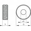 Kółko radełkowe KERFOLG ROUGH - Typ GV 45°